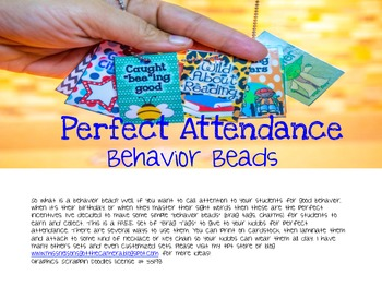 Perfect Attendance Tags (Behavior Beads)