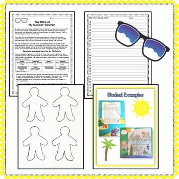 Back To Middle School: The ABC's of My Summer Vacation (Personal Narrative)