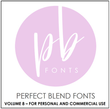 perfect blend fonts volume eight by a perfect blend tpt