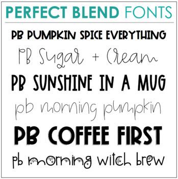 Perfect Blend Fonts: Volume Fifteen