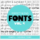 Perfect Blend Fonts: Volume Nine
