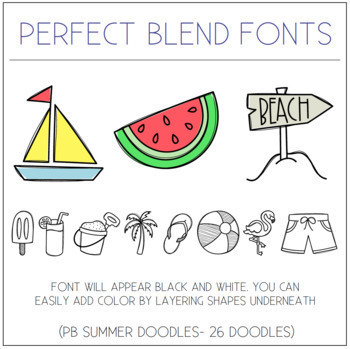 Perfect Blend Fonts: Doodle Fonts