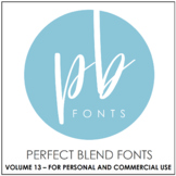 Perfect Blend Fonts: Volume Thirteen