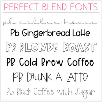 Perfect Blend Fonts: Volume Twelve