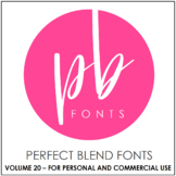 Perfect Blend Fonts: Volume Twenty