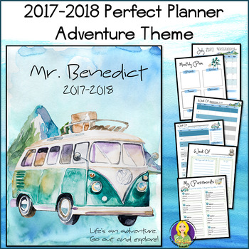 Perfect Counselor Planner Binder - 2017-2018 Adventure Theme