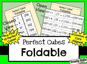 Perfect Cubes Foldable