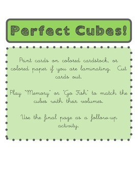Perfect Cubes Game