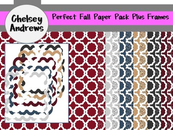 Perfect Fall Paper Pack Plus PNG Frames {Personal or Commercial Use}
