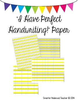 Perfect Handwriting Paper