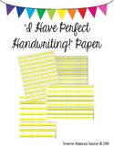 Perfect Handwriting Paper