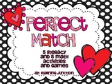 Perfect Match Valentine's Day Literacy and Math Centers