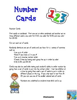 Perfect Number Cards: No hook or base on #1, no point on # 4, & the straight 9!