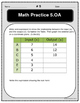 Operations and Algebraic Thinking: Practice and Quizzes -