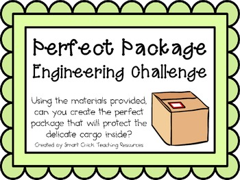 Perfect Package: Engineering Challenge Project ~ Great STEM Activity!