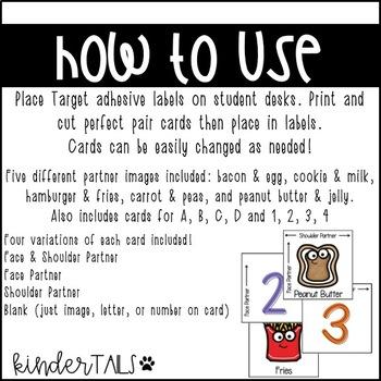 Perfect Pair Partner Cards {Target Adhesive Labels}