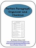 Perfect Paragraph Organizer and Checklist