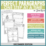 Perfect Paragraphs One Step at a Time: December Edition