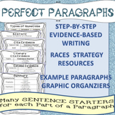 RACES Paragraphs: Text Evidence-Based Writing using Sentence Starters