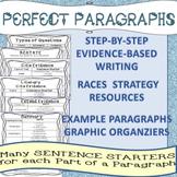 RACES Paragraphs  Text Evidence Writing   Sentence Starter