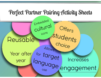 Perfect Partner Pairing Activity Sheets