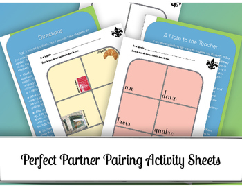 Perfect Partner Pairing Activity Sheets