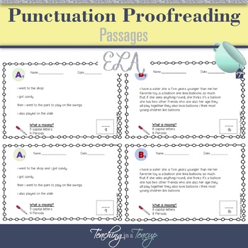 Proofreading Passages
