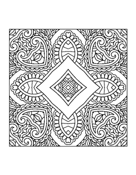 Perfect Patterns 1 - 10 Page Coloring Book