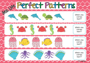 Perfect Patterns- What Comes Next? Sea Life- Identifying and Continuing Patterns