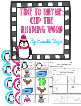 Perfect Penguin Pairs: Rhyming Literacy Center
