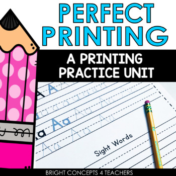 Perfect Penmanship: A Printing Practice Unit {DISTANCE LEARNING}