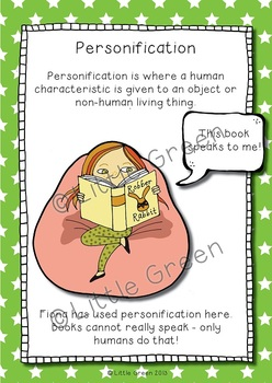 Perfect Personification - Poster and Worksheets