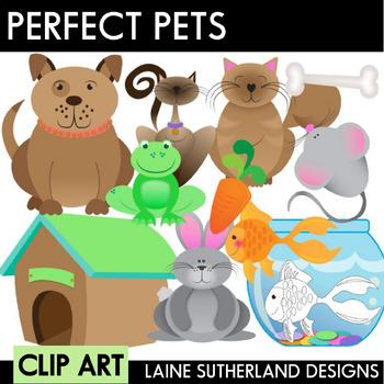 Perfect Pets Clip Art Set (color & black and white)