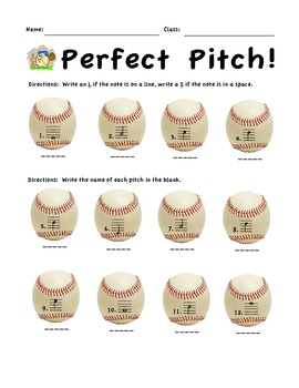 Perfect Pitch! Notes of the Treble Staff