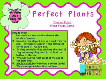 Perfect Plants Facts: True or False Game