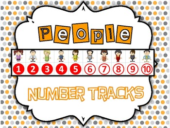 Perfect Pop-up People Number Track Set