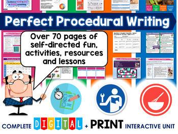 Perfect Procedural Writing Unit (Self Directed Digital Modules) Google Drive