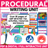 Procedural Writing Unit | Organizers | Prompts | Lessons | Distance Learning