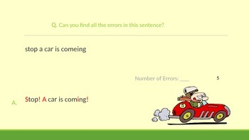 Perfect Proofreading Practice Game (Sentences)