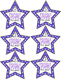 Perfect Purple Stars for Behavior Clip Chart Reward