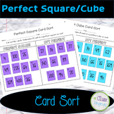Perfect Square/Cube Card Sort Activity