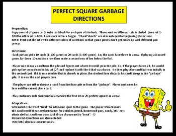 Perfect Square Garbage