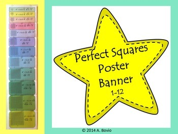 Perfect Squares Poster Banner