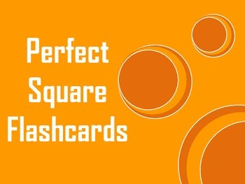 Perfect Square Root Flashcards