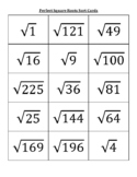 Perfect Square Roots (1 - 225) Sort Cards
