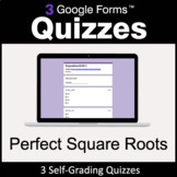 Perfect Square Roots - 3 Google Forms Quizzes | Distance Learning
