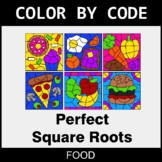Perfect Square Roots - Color by Code / Coloring Pages - Food