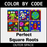 Perfect Square Roots - Color by Code / Coloring Pages - Ou