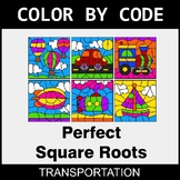 Perfect Square Roots - Color by Code / Coloring Pages - Tr