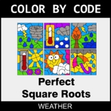 Perfect Square Roots - Color by Code / Coloring Pages - Weather